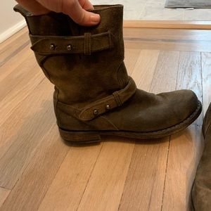 Rag and bone suede moto boots